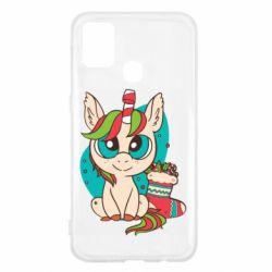 Чехол для Samsung M31 Unicorn Christmas