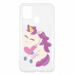 Чехол для Samsung M31 Unicorn with love