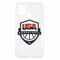 Чехол для Samsung M31 USA basketball