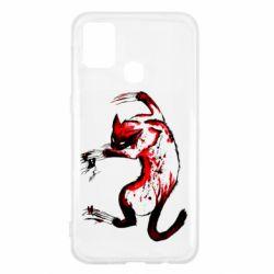 Чехол для Samsung M31 Watercolor Aggressive Cat