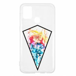 Чехол для Samsung M31 Watercolor flower in a geometric frame