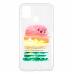 Чехол для Samsung M31 Watercolor pattern with sea