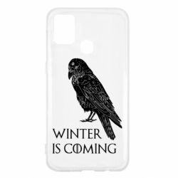 Чохол для Samsung M31 Winter is approaching and crow