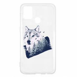 Чехол для Samsung M31 Wolf and forest