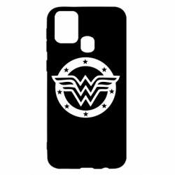 Чехол для Samsung M31 Wonder woman logo and stars