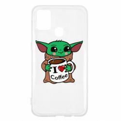 Чехол для Samsung M31 Yoda and a mug with the inscription I love coffee