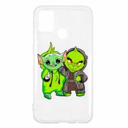 Чехол для Samsung M31 Yoda and Grinch