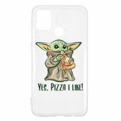 Чехол для Samsung M31 Yoda and pizza