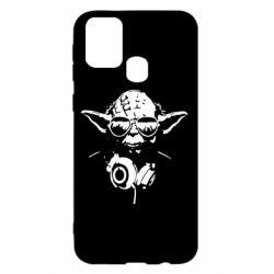 Чехол для Samsung M31 Yoda в наушниках