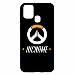 Чехол для Samsung M31 Your Nickname Overwatch
