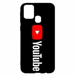 Чехол для Samsung M31 Youtube logotype