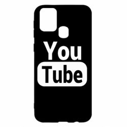 Чохол для Samsung M31 Youtube vertical logo
