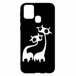 Чехол для Samsung M31 Жирафы
