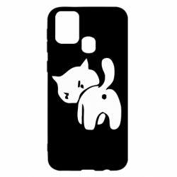Чехол для Samsung M31 злой котэ