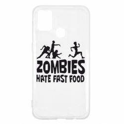 Чохол для Samsung M31 Zombies hate fast food