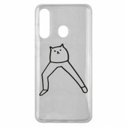 Чохол для Samsung M40 Cat in pants