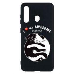 Чехол для Samsung M40 Cats and love