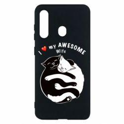 Чехол для Samsung M40 Cats with a smile