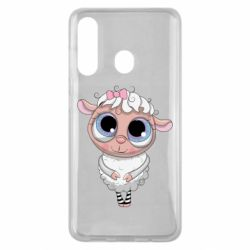 Чехол для Samsung M40 Cute lamb with big eyes