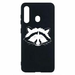 Чохол для Samsung M40 Cute raccoon face