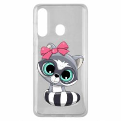 Чехол для Samsung M40 Cute raccoon