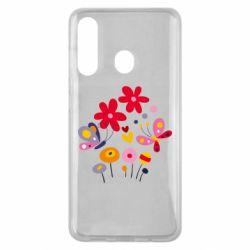 Чехол для Samsung M40 Flowers and Butterflies