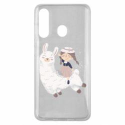 Чохол для Samsung M40 Girl with a lama