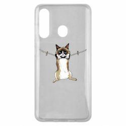 Чехол для Samsung M40 Grumpy Cat On The Rope