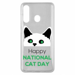 Чехол для Samsung M40 Happy National Cat Day
