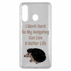 Чехол для Samsung M40 Hedgehog with text