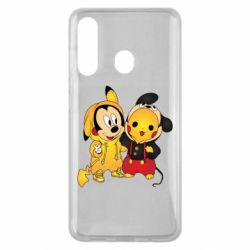 Чехол для Samsung M40 Mickey and Pikachu