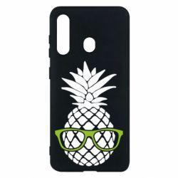 Чехол для Samsung M40 Pineapple with glasses