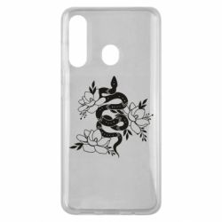 Чохол для Samsung M40 Snake with flowers