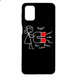 Чехол для Samsung M51 2302Our love story2