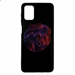 Чехол для Samsung M51 Abstract rose from the lines