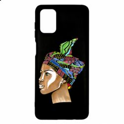 Чохол для Samsung M51 African girl in a color scarf