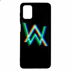 Чехол для Samsung M51 Alan Walker multicolored logo