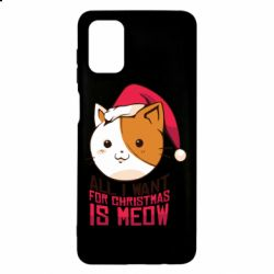 Чехол для Samsung M51 All i want for christmas is meow