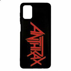 Чохол для Samsung M51 Anthrax red logo