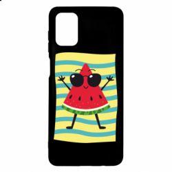 Чехол для Samsung M51 Арбуз на пляже