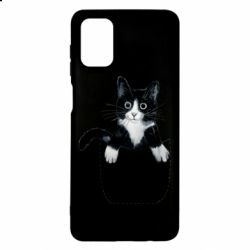 Чехол для Samsung M51 Art cat in your pocket