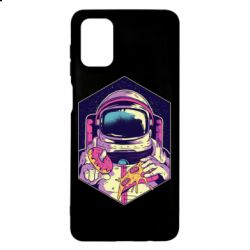Чехол для Samsung M51 Astronaut with donut and pizza