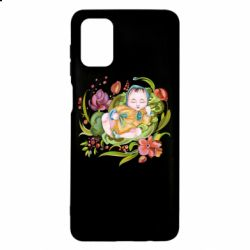 Чехол для Samsung M51 Baby and flowers