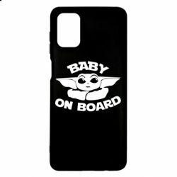 Чехол для Samsung M51 Baby on board yoda