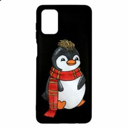 Чохол для Samsung M51 Baby penguin with a scarf