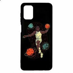 Чехол для Samsung M51 Basketball player and space