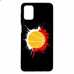 Чехол для Samsung M51 Баскетбольный мяч