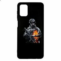 Чехол для Samsung M51 Battlefield Warrior