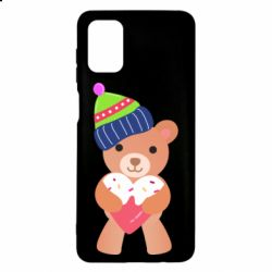 Чехол для Samsung M51 Bear and gingerbread
