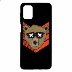 Чехол для Samsung M51 Bear with glasses